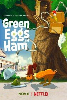 Зеленые яйца с ветчиной